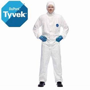 Blouse Tyvek complète avec cagoule de sécurité élastique aux poignées idéale pour la crise actuelle boutique CCRD